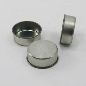 Round Metal Tealight Cup Holder Empty Case Candle Wax Container Bowl Mold DIY