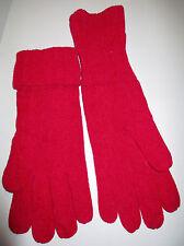 neue Damenhandschuhe mit Umschlag in rot