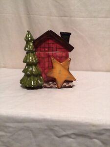 Vintage Porcelain Christmas Cookie Jar WCL CL33-2