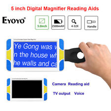Eyoyo 4-32X 5 inch Electronic Digital Video Magnifier Reading Aid Voice Prompt