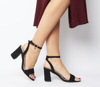 Womens Office Marigold Strappy Heels Black Heels