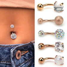 5PCS Belly Button Ring Navel Bars Zircon Stainless Steel Body Piercing Jewellery