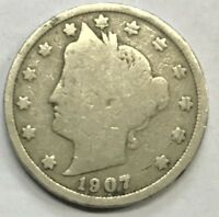 """1907  LIBERTY """"V"""" NICKEL **** NICE CIRCULATED COIN - L@@K AT PICTURES!!!!!  #426"""