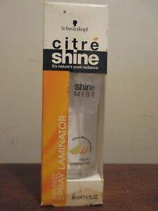 Schwarzkopf Citre Shine Mist Anti Frizz Serum Highly Laminating Spray 3 Oz