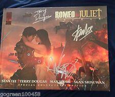 Stan Lee signed book Romeo & Juliet War Marvel Comics HC 1st edition Avengers