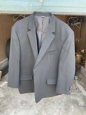54 Regular GS Blazer - Men 54 Black 2Btn Wool Blend Sport Coat Suit Jacket