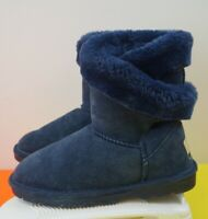 LAMO ESSENTIAL WOMEN'S  WINTER SUEDE LEATHER BLUE BOOTS SIZE 7