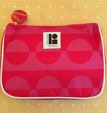 "Estee Lauder-Lisa Perry Makeup-Cosmetic Bag Pink 8"" X 6 1/2"" X 2"" Zipper. EUC!"