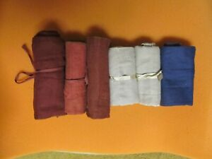 Cloth Sterling Silver Flatware Storage Bags_Lot of SIX