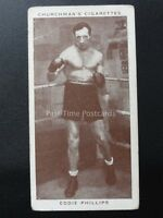 No.33 EDDIE PHILLIPS - Boxing Personalities by W.A. & A.C. Churchman 1938