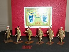 TROPHY MINIATURES GM4 WORLD WAR ONE BRITISH OFFICER + PRIVATES MARCHING SET