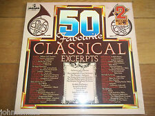 VARIOUS - 50 FAVOURITE CLASSICAL EXCERPTS - 2xLP / RECORD - PICKWICK - 50 DA 314