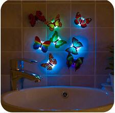 10x Lighting 3D Butterfly Sticker Art Wall Stickers Door Decals Home Decor Room