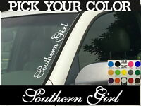 "Southern Girl Vertical Car Truck SUV Windshield Vinyl Decal sticker 4"" x 22"""