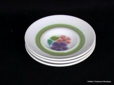 Franciscan Earthenware Floral 3 Saucers Green Band Beautiful