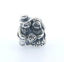 791116 AUTHENTIC PANDORA STERLING SILVER MR AND MRS BRIDE & GROOM BEAD NEW