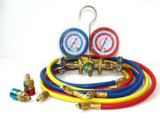 A/C Manifold Dual Gauge Set R134A R12 R22 R502 ACME HVAC AC Auto 5FT Hose