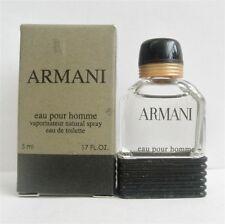 Armani Eau Pour Homme EDT for Men Mini 5 ml .17 oz New in Box
