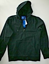 Adidas Originals Mens Premium Essentials Hoody Hoodie Zip Up Jacket S Black NWT