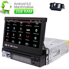 "Android 6.0 Car Stereo GPS Quad Core 7"" Tablet Single 1DIN Radio 3G WiFi+Camera"