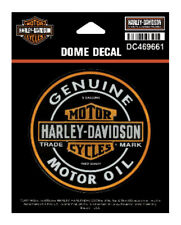 Harley-Davidson Dome Motor Oil Bar & Shield Decal, XS 3.375 x 3.375 in DC469661