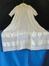 Antique Victorian Baby Child's Christening Baptismal Gown/Dress Ivory/Cream
