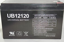 12V 12AH RECHARGEABLE SEALED LEAD ACID 12VOLT 12AMP HOUR SLA DEEP CYCLE BATTERY