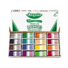 Crayola Non-Washable Markers Classpack - 588201