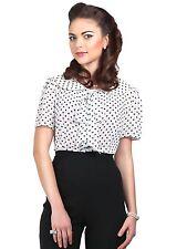 NEU Lucille Polka Bluse v. Collectif elegante Bluse, Rockebilly, Retrobluse 4 XL