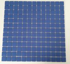 1 Matte Mosaik Blau ca. 34 x 34cm -1 Stein ca. 2,5 x 2,5 x 0,4 cm / 25x25mm- M34