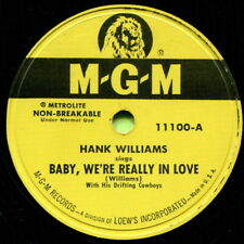 HANK WILLIAMS (Baby, We're Really In Love) CLASSIC COUNTRY 78 RPM RECORD