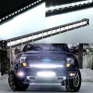 20inch 54W Led Work Light Bar Spot Beam Slim Single Row Driving Offroad Lamp UTE