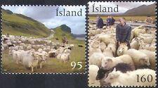 Islande 2009 élevage ovin/Nature/laine/Vêtements/Chevaux/chien 2 V Set (n42365)