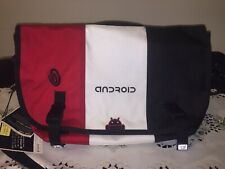 Timbuk2 Medium Laptop Messenger Bag Red White Black Google Android WorkGear SWAG