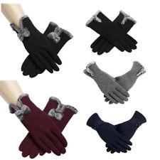 Women Winter Fleece Lined Velvet Thermal Warm Gloves Touch Screen Mittens USA