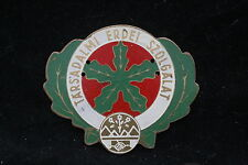 Rare Hungary Hungarian Forest Service Ecology Game Warden Police Hat Badge
