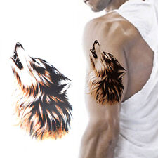 Temporary Wolf Tattoos Large Arm Fake Transfer Tattoo Stickers Sexy Waterproof