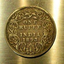 INDIA-BRITISH 1893 SILVER ONE RUPEE VICTORIA .3438 OZ QUEEN VICTORIA .917 SILVER