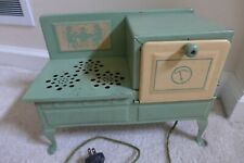 Vintage 1930's Green Metal Ware Corp electric  Stove Oven
