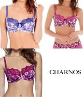 Pack of 2 Size 36D  CHARNOS Non Wired Panty Corselettes Floral White 4612