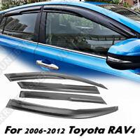 Black MUGEN STYLE Window Vent Visors For 06-12 Toyota Rav4 4Dr Sun/Rain Guard