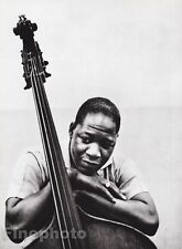 1954/87 Vintage 16x20 CURTIS COUNCE Jazz Double Bass Photo Art ~ WILLIAM CLAXTON