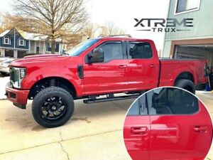 RR Ruby Red Painted 17-21 Ford F250 F350 Door Handle Covers Color Match Set 4