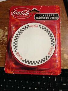 """NEW 4 Coca Cola DECO PLASTIC COASTERS  """"FREE SHIPPING"""""""