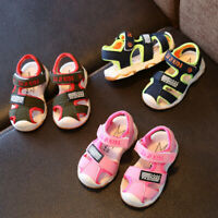 Toddler Kids Baby Girls Boys Summer Closed Toe Beach Shoes Sandals Sneakers