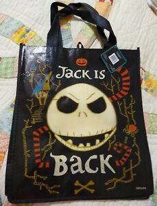 The Nightmare Before Christmas Jack Skellington Reusable Eco Black Tote w/Handle