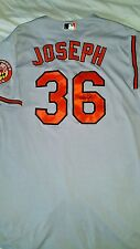 baltimore orioles catcher caleb joseph signed game used jersey