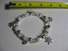 Avon Snowflake and Beads Bracelet