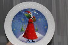 "Beautiful!  Russ Christmas Plate Santa Claus by JAN PASHLEY 8"""