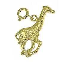 NEW 14k YELLOW GOLD GIRAFFE ANIMAL CHARM PENDANT JEWELRY